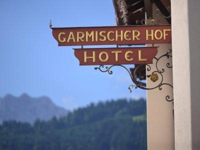 Biohotel Garmischer Hof Hotel Garmisch Schild